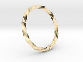 Twistium - Bracelet P=200mm in 14K Yellow Gold