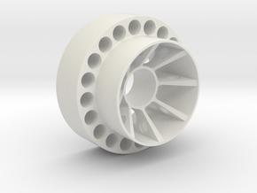 Dishwasherwheel in White Natural Versatile Plastic