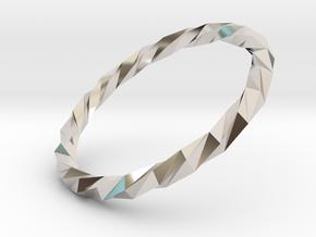 Twistium - Bracelet P=220mm in Platinum
