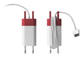 The Wrap - (Euro, dock connector version) in Red Processed Versatile Plastic