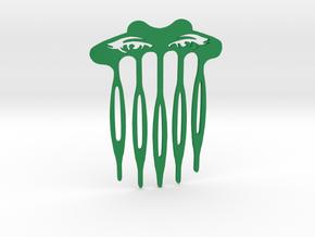 Eye Spy Hair Comb in Green Processed Versatile Plastic