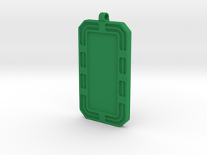 Customized Dog-tag/KeyChain in Green Processed Versatile Plastic