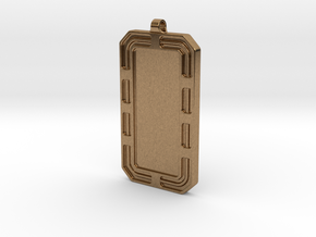 Customized Dog-tag/KeyChain in Natural Brass