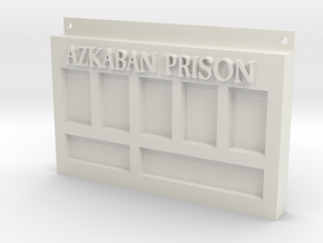 Azkaban Prison Sign in White Strong & Flexible