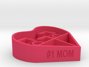 #1 MOM makeup organizer in Pink Processed Versatile Plastic
