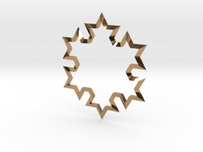 SnowFlake in Polished Brass