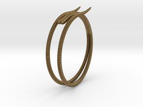 "b. ""Life of a worm"" Part 2 - ""Soil mates"" bracele in Natural Bronze: Medium"