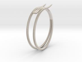 """Life of a worm"" Part 2 - ""Soil mates"" bracelet in Rhodium Plated Brass: Medium"