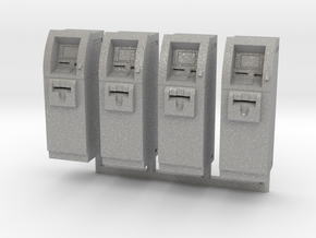 SlimCash 200 ATMs x4, HO Scale (1:87) in Aluminum