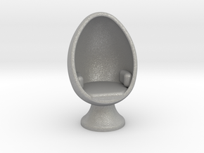 SciFi Egg Chair, 1:64 Scale in Aluminum