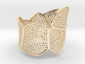 Double Voronoi Bracelet (v1) in 14k Gold Plated Brass