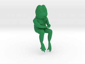 Ultra rare smug meme frog in Green Strong & Flexible Polished