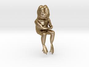 Ultra rare smug meme frog in Polished Gold Steel