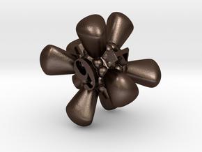 Dice 6 in Matte Bronze Steel