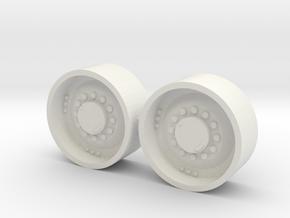 "1/64 34"" Mfwd Wheel  pair in White Natural Versatile Plastic"