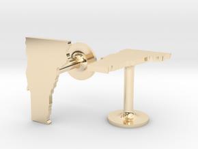 Vermont State Cufflinks in 14k Gold Plated Brass