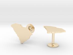 South Carolina State Cufflinks in 14k Gold Plated Brass