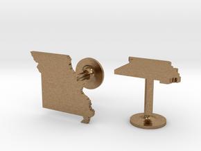 Missouri State Cufflinks in Natural Brass