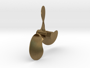 """Propeller 3.33"""" RH, for 1:6 scale Monterey Clipper in Natural Bronze"""
