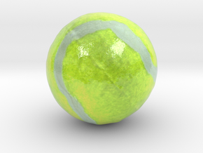 The Tennis Ball-mini in Glossy Full Color Sandstone