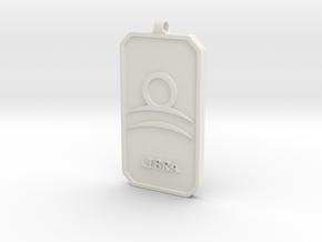 Zodiac Dogtag/KeyChain-LIBRA in White Natural Versatile Plastic