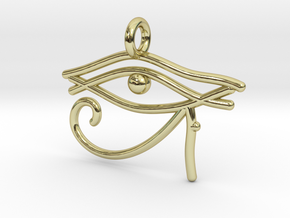 Eye of Ra in 18k Gold Plated Brass