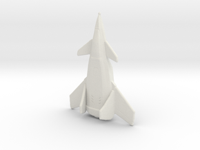 Crow Jet Fighter in White Natural Versatile Plastic: Small