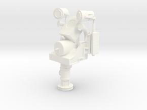 1/18 USN Helm Pedestal-Steering (with no) Wheel in White Processed Versatile Plastic
