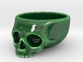 The Cranium Mug in Gloss Oribe Green Porcelain