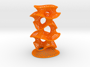 Protonik Decor Vase in Orange Processed Versatile Plastic