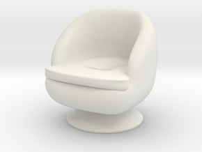 1/32 Girl sitting Chair Part of Chair 014 in White Natural Versatile Plastic
