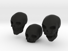 Skulls in Black Natural Versatile Plastic