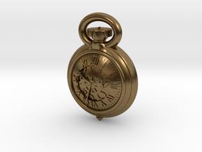 Pocket Watch Half Inch Game Piece in Natural Bronze
