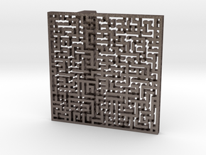 Maze Buckle (ready to use) in Polished Bronzed Silver Steel