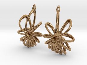 Nova Earrings in Polished Brass