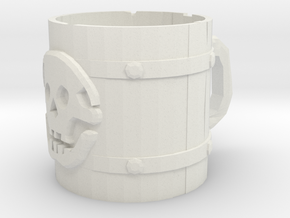 Liar's Dice skull mug in White Strong & Flexible