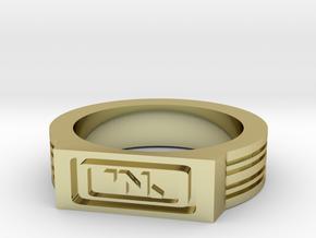 NanoTrasen Ring Size 10 in 18k Gold Plated Brass