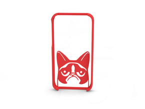 "Iphone 4s ""Grumpy cat"" in Red Processed Versatile Plastic"