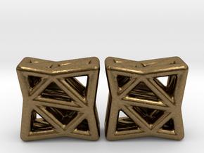 Starlit Studs in Natural Bronze