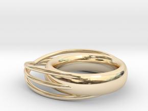 Ø0.757 inch/Ø19.241 mm Ring in 14k Gold Plated Brass
