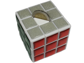 Center for Coin Chest Puzzle in White Processed Versatile Plastic