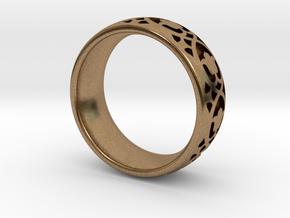 Wedding Ring Model A Ø0.669 inch/Ø17mm in Natural Brass