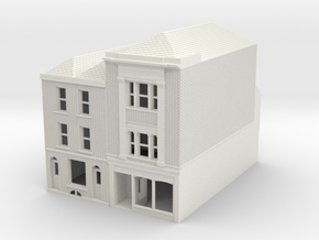 RHS-7-8 N Scale Rye High Street building 1:148 in White Natural Versatile Plastic