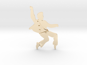 RockStarDancing- Pendant in 14k Gold Plated Brass