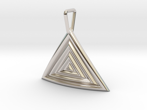 Triangular Ripple Pendant in Platinum