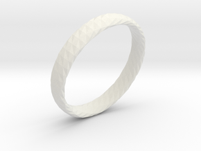 Twistium - Bracelet P=190mm h15 in White Strong & Flexible