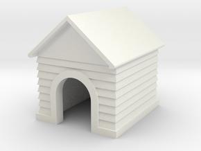 Doghouse Custom Name - 'O' 48:1 Scale in White Natural Versatile Plastic