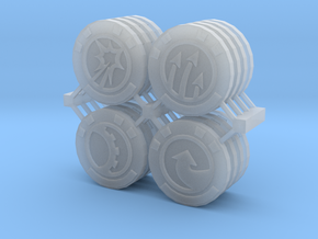 Star Wars Armada Command Tokens in Smooth Fine Detail Plastic