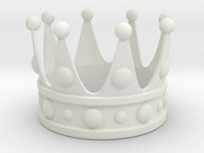 Animal King Crown in White Natural Versatile Plastic