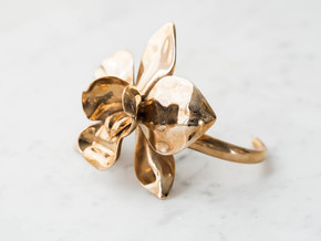Orchid Bracelet- Metal Version in Polished Bronze